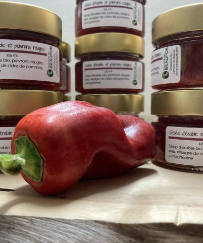 Gelée à l'érable et poivrons rouges
